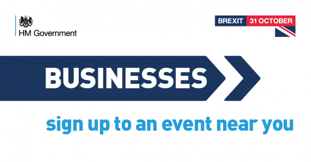 Graphic promoting Brexit Business events