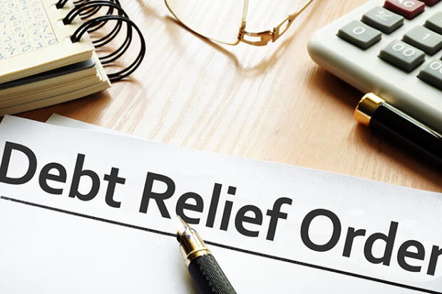Debt Relief Orders written on paper