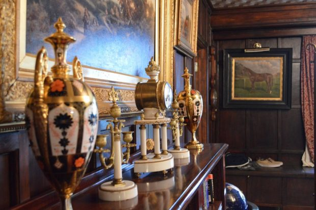 Fine art, antiques and paintings on display in a manor house