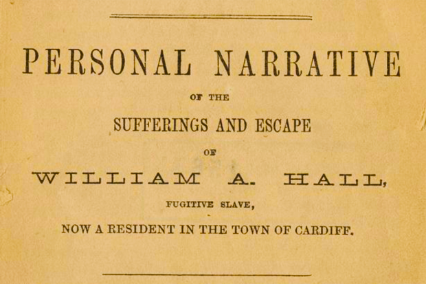 Front cover of 19th century pamphlet written by William A. Hall