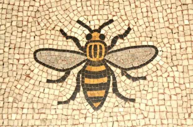 Manchester bee mosaic