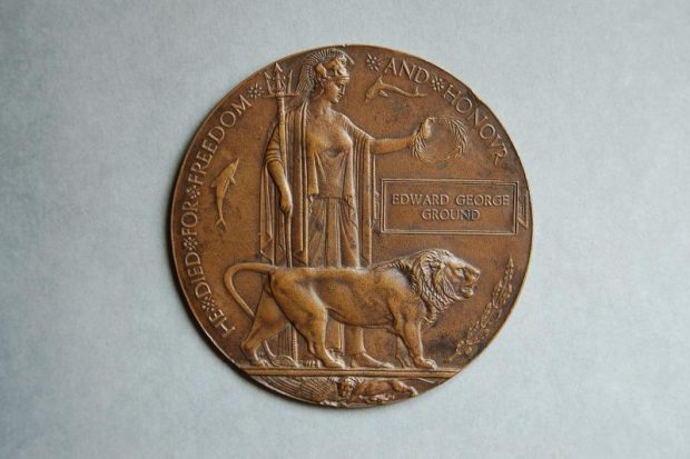 Edward George Ground WW1 medal